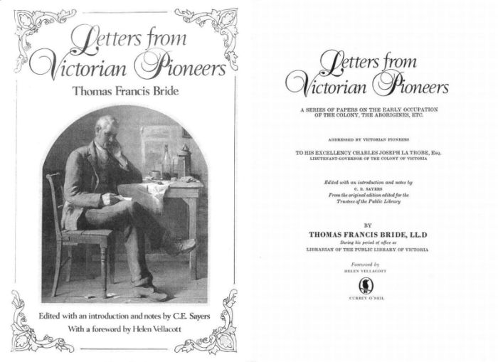 [Letters from Victorian Pioneers 1983]