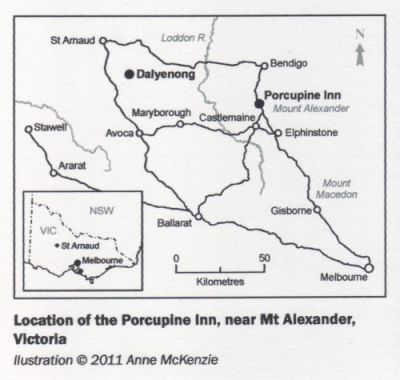 [Map Showing the Porcupine Inn]